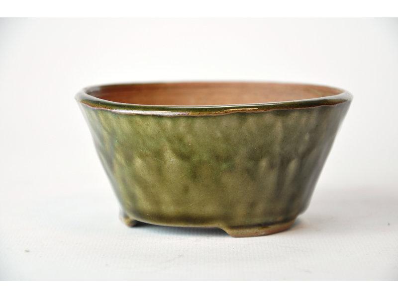 Ronde groene Bonsa-pot - 100 x 99 x 50 mm
