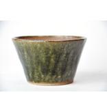 Ronde groene Bonsa-pot - 95 x 94 x 55 mm