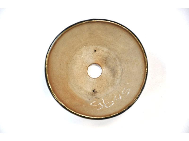 Ronde groene Bonsa-pot - 110 x 149 x 45 mm
