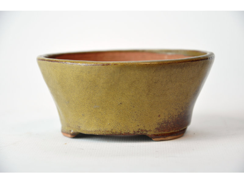 Ronde gouden Bonsa-pot - 105 x 105 x 45 mm