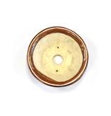 Ronde roodbruine Bonsa-pot - 115 x 114 x 35 mm