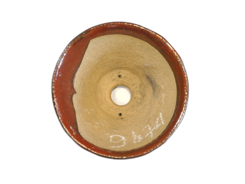 Ronde roodbruine Bonsa-pot - 110 x 110 x 55 mm