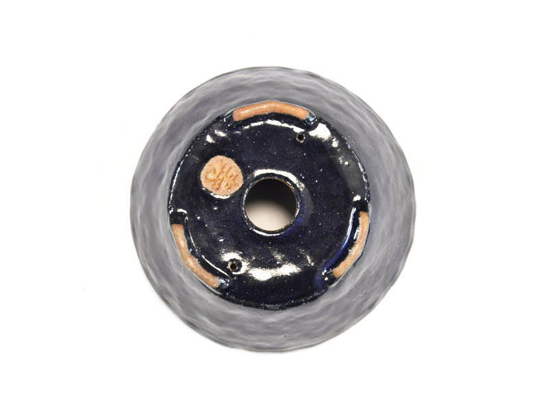 Ronde blauwe Bonsa-pot - 107 x 106 x 45 mm