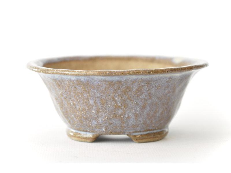 Ronde paarse Bonsa-pot - 106 x 104 x 40 mm