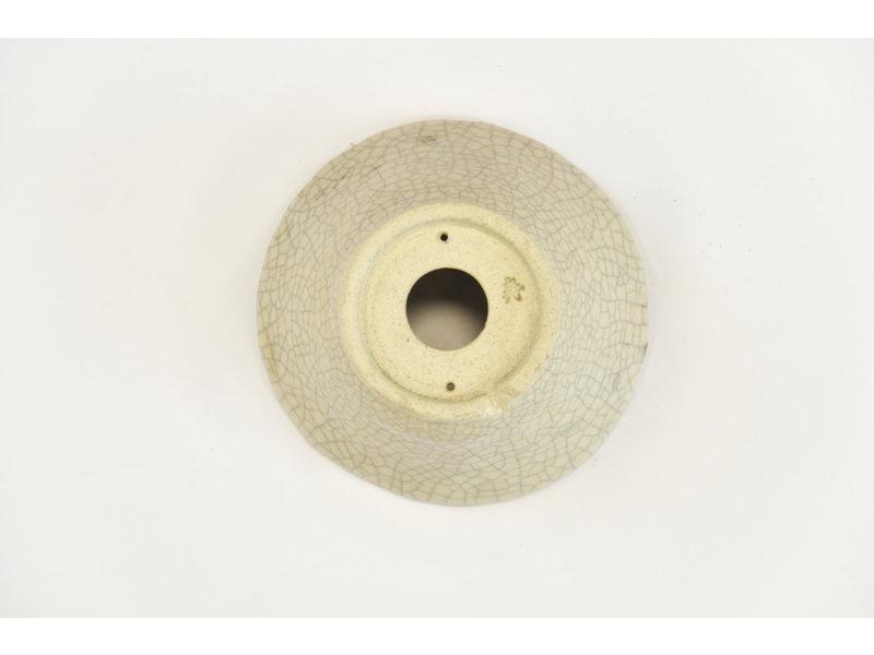 Ronde witte craquelé Bonsa-pot - 90 x 87 x 40 mm