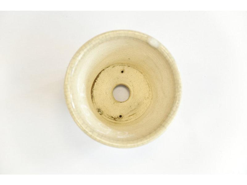 Ronde witte craquelé Bonsa-pot - 89 x 89 x 60 mm
