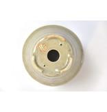Ronde creme Bonsa-pot - 102 x 104 x 60 mm