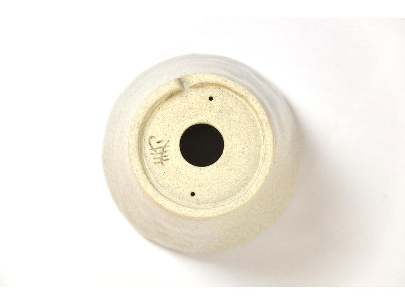 Ronde creme craquelé Bonsa-pot - 84 x 83 x 55 mm