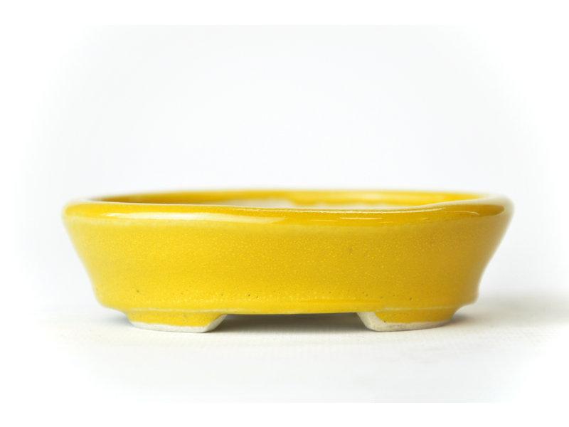 Ovale oranje Seto pot - 99 x 86 x 20 mm