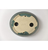 Set van ovale turqoise pot - 105 x 95 x 25 mm