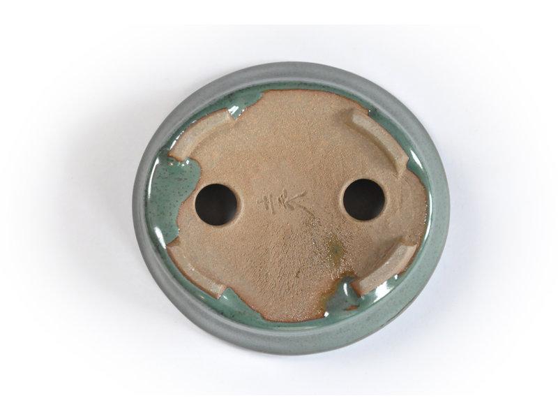 Ovale blauwgroen Seto pot - 104 x 96 x 25 mm