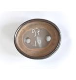 Ovale bruine Seto-pot - 98 x 86 x 25 mm