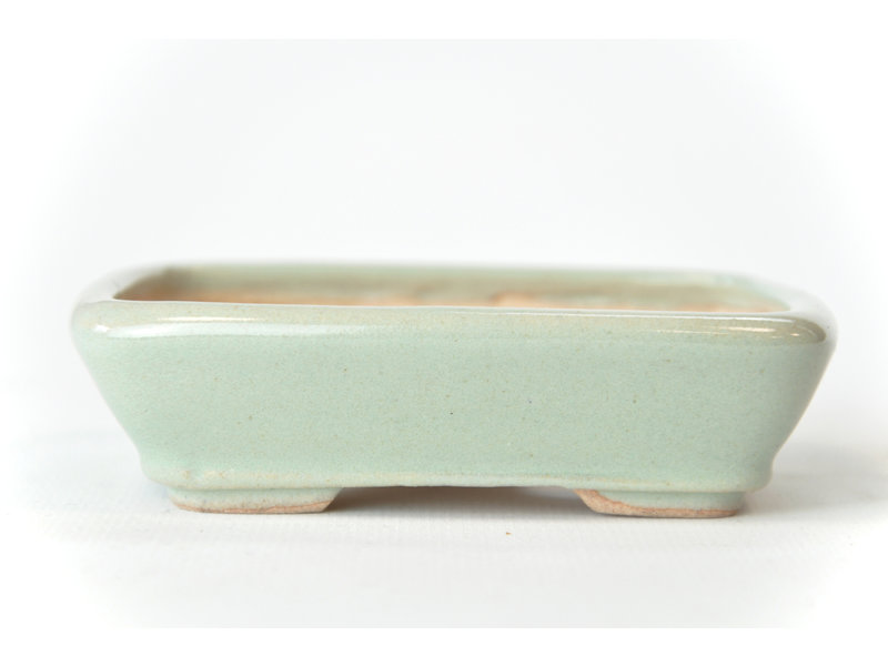 Rechthoekige mintblauwe Seto-pot - 105 x 84 x 25 mm
