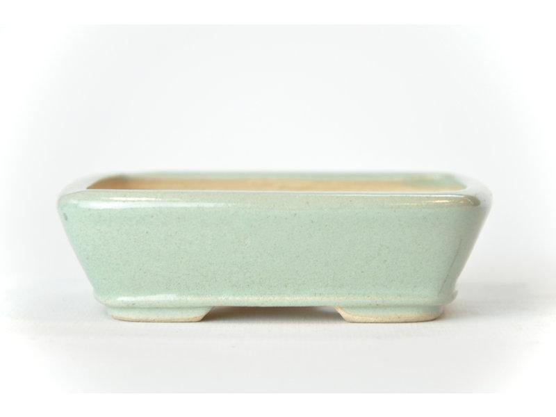 Rechthoekige mintblauwe Seto-pot - 105 x 83 x 30 mm