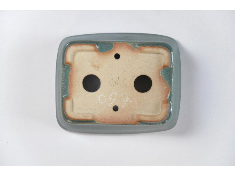 Rechthoekige groenblauw Seto pot - 100 x 80 x 30 mm
