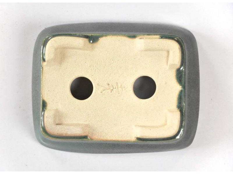Rechthoekige groenblauw Seto pot - 103 x 81 x 25 mm