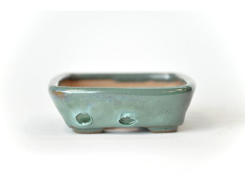 Rechthoekige groenblauw Seto pot - 102 x 80 x 25 mm