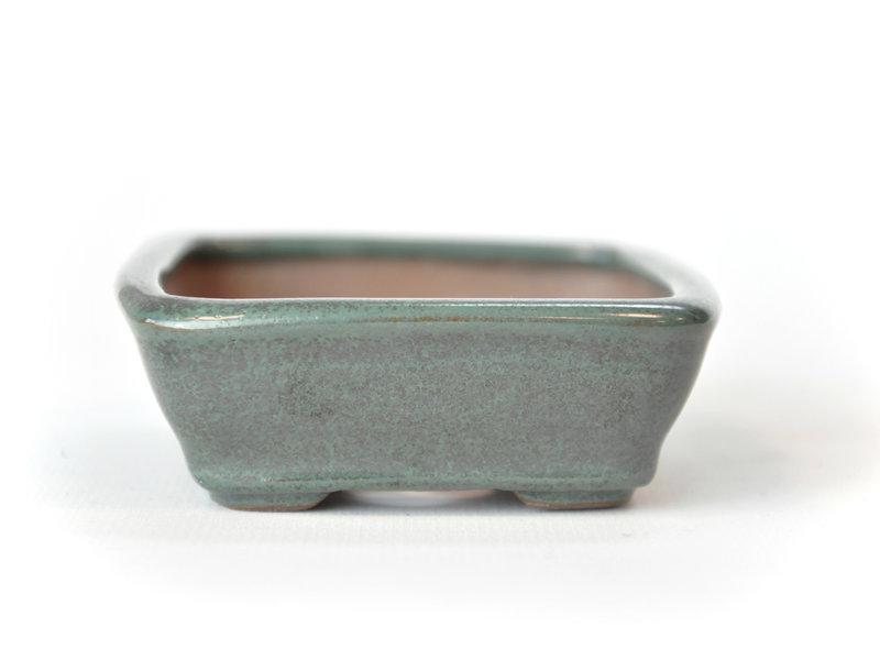 Rechthoekige groenblauw Seto pot - 103 x 84 x 25 mm