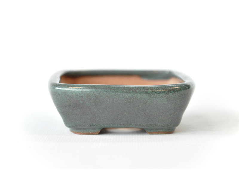 Rechthoekige groenblauw Seto pot - 103 x 82 x 25 mm