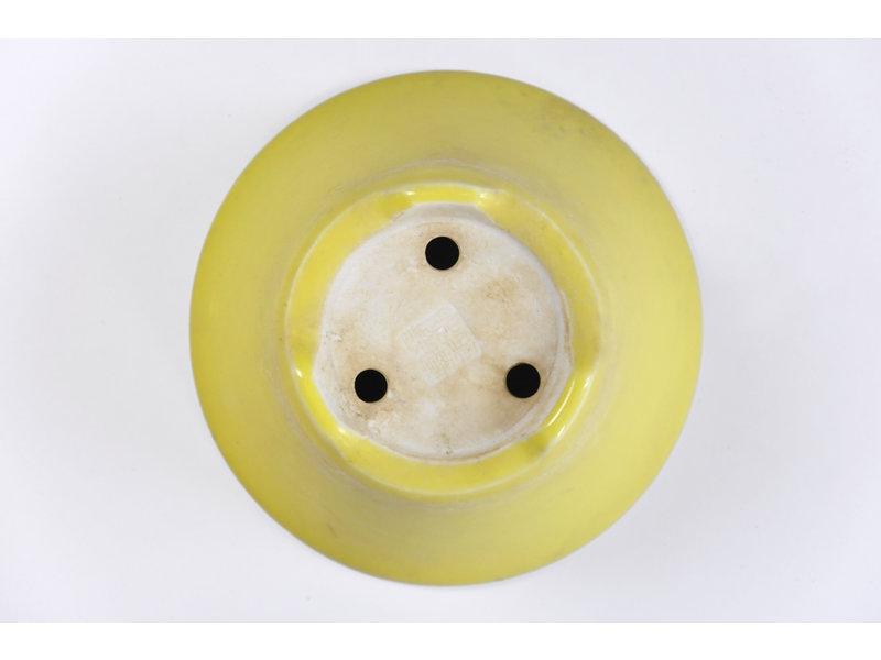 Ronde gele Seifu-pot - 118 x 118 x 50 mm