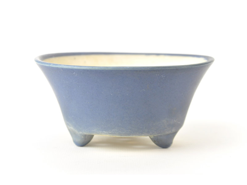 Ronde blauwe Seifu-pot - 119 x 119 x 55 mm