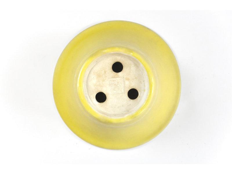 Ronde gele Seifu-pot - 111 x 111 x 50 mm