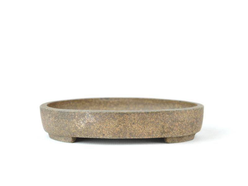 Ovale ongeglazuurde bonsaipot - 120 x 93 x 20 mm