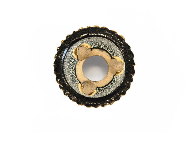 Zwarte fukiran pot - 115 x 115 x 75 mm