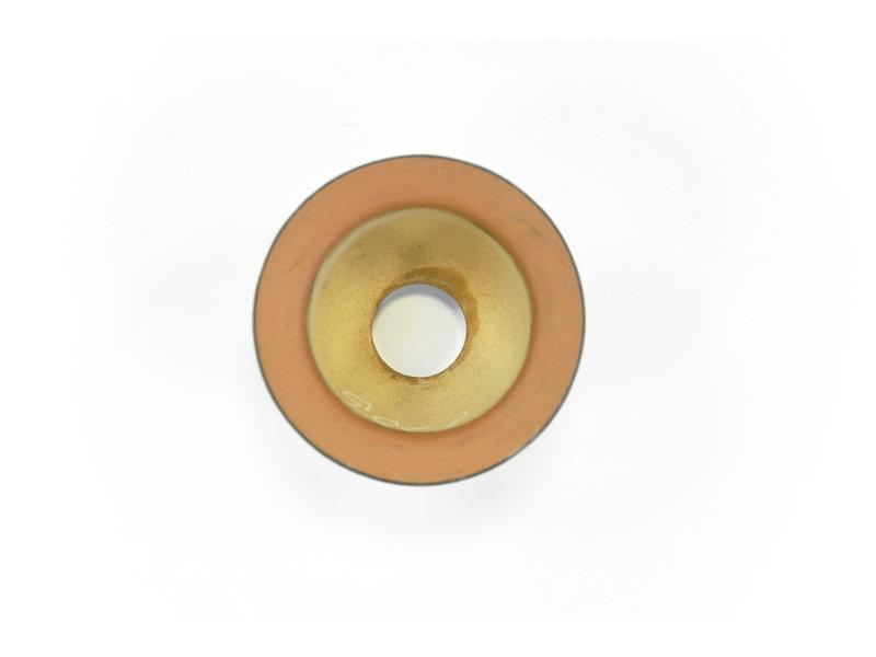 Ongeglazuurde Fukiran-pot - 104 x 104 x 74 mm
