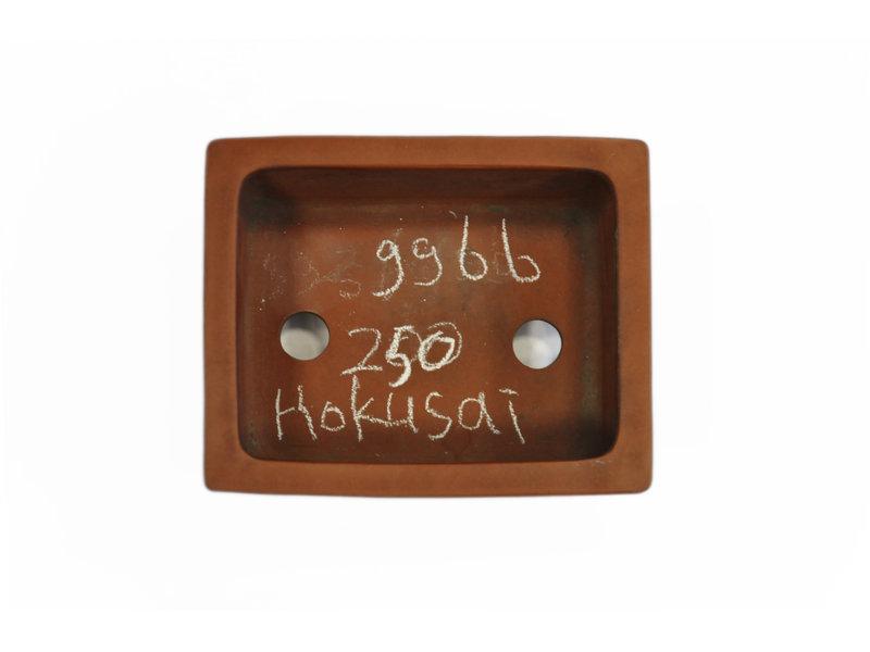 Pot à bonsaï Hokusai rectangulaire non émaillé - 118 x 96 x 50 mm