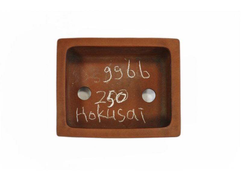 Vaso bonsai Hokusai rettangolare non smaltato - 118 x 96 x 50 mm