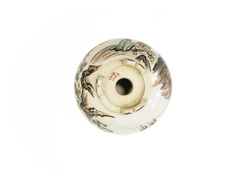 Runder weißer Kotani Jugaku Bonsai Topf - 104 x 104 x 50 mm