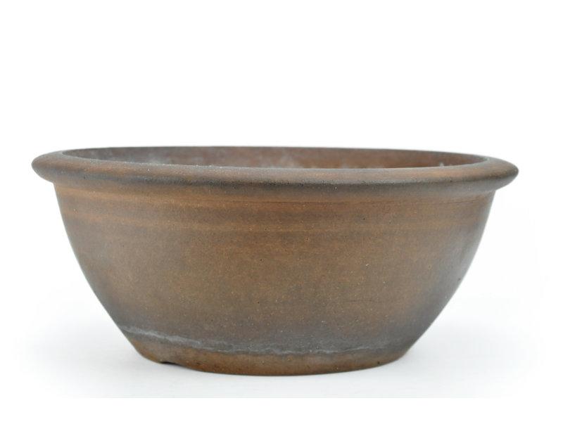 Round unglazed Shozan bonsai pot - 298 x 298 x 120 mm