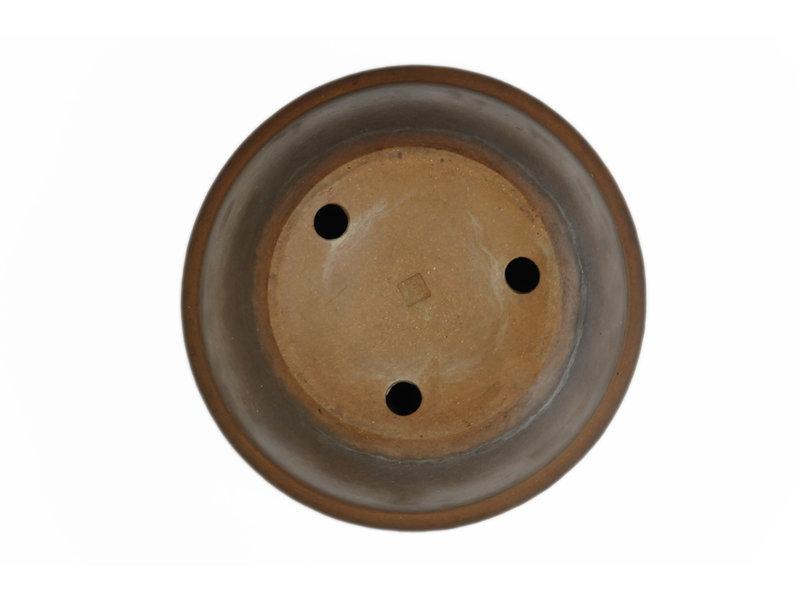 Ronde ongeglazuurde Shozan bonsaipot - 298 x 298 x 120 mm