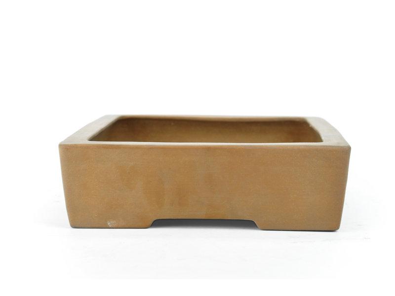 Pot à bonsaï Shoko rectangulaire non émaillé - 295 x 240 x 70 mm