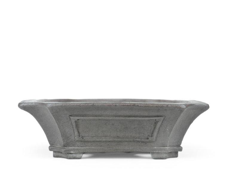 Rechthoekige ongeglazuurde Sensyu bonsaipot - 390 x 355 x 100 mm
