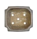 Rechteckiger unglasierter Sensyu-Bonsai-Topf - 390 x 355 x 100 mm