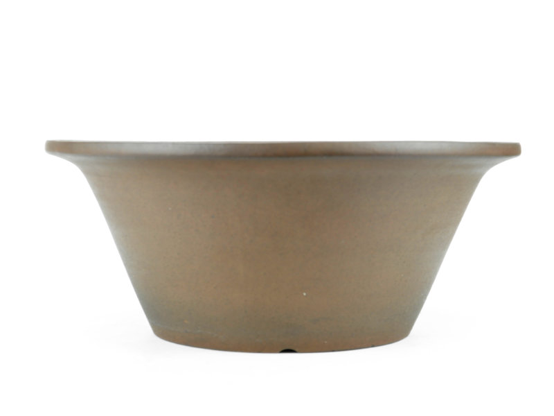 Vaso bonsai Keizan tondo non smaltato - 392 x 392 x 175 mm