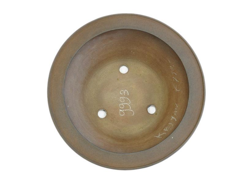 Round unglazed Keizan bonsai pot - 392 x 392 x 175 mm