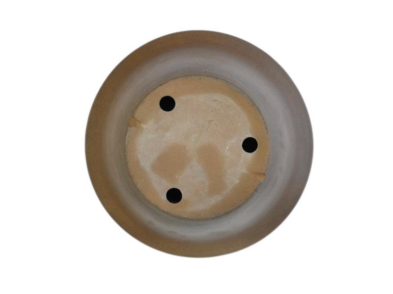 Pot à bonsaï Keizan rond non émaillé - 392 x 392 x 175 mm