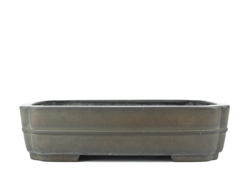 Pot à bonsaï rectangulaire non émaillé Eiraku - 375 x 290 x 95 mm