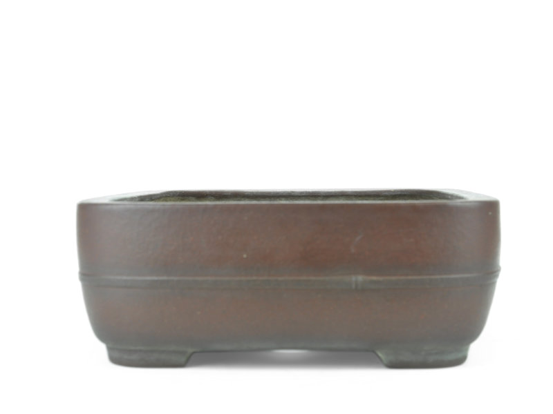 Rectangular unglazed Yamaaki bonsai pot - 380 x 310 x 115 mm