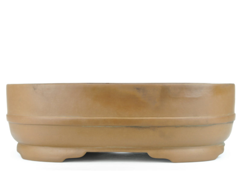 Ovale ongeglazuurde Shoko bonsaipot - 465 x 370 x 145 mm