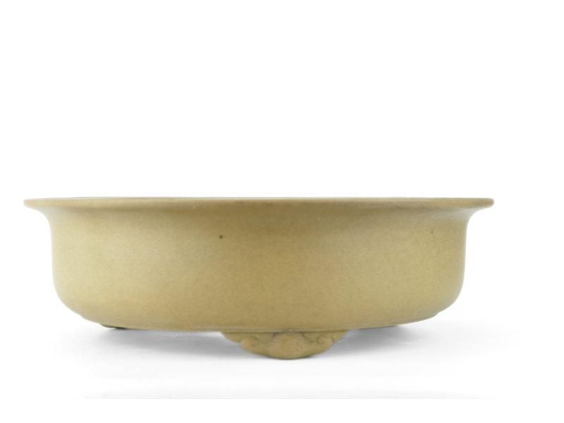 Ronde ongeglazuurde Shozan bonsaipot - 408 x 408 x 120 mm