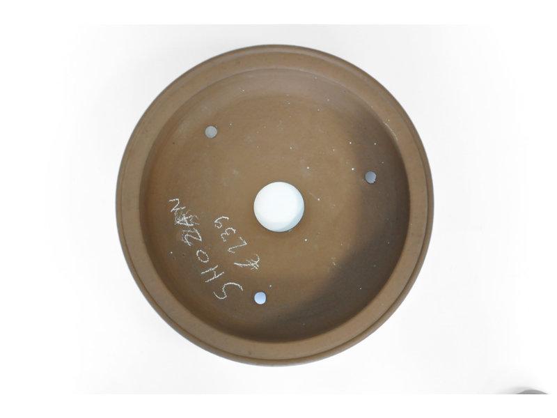 Ronde ongeglazuurde Shozan bonsaipot - 333 x 333 x 115 mm