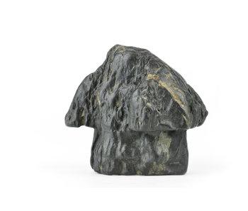 Suiseki giapponese da 100 mm in stile capanna di pietra