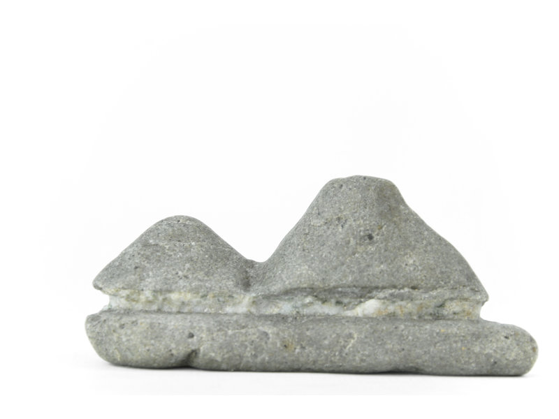 90 mm suiseki from Japan in hut stone style