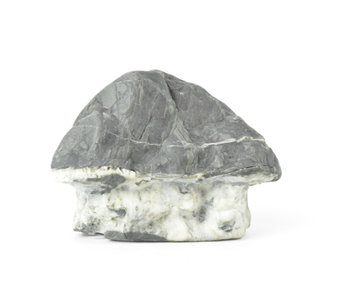 92 mm suiseki from Japan in hut stone style