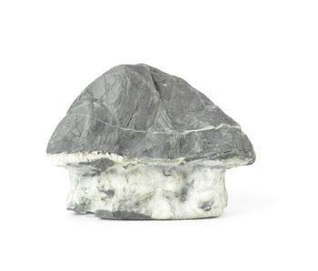 Suiseki de 92 mm importé du Japon dans un style pierre de hutte