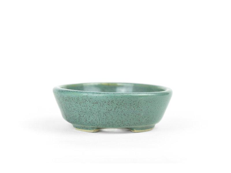 Ovale groene Bonsai bonsai pot - 100 x 85 x 25 mm
